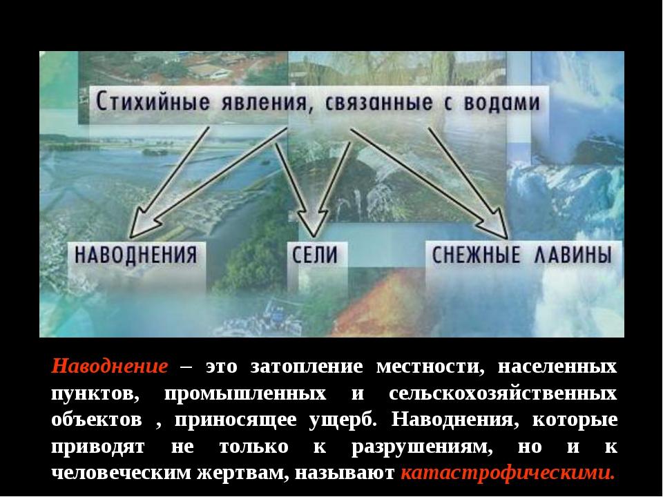 Наводнение – это затопление местности, населенных пунктов, промышленных и сел...
