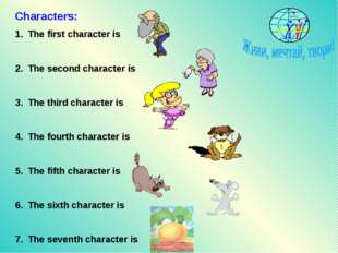 Characters: The first character is The second character is The third characte