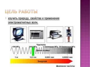 изучить природу, свойства и применение электромагнитных волн.