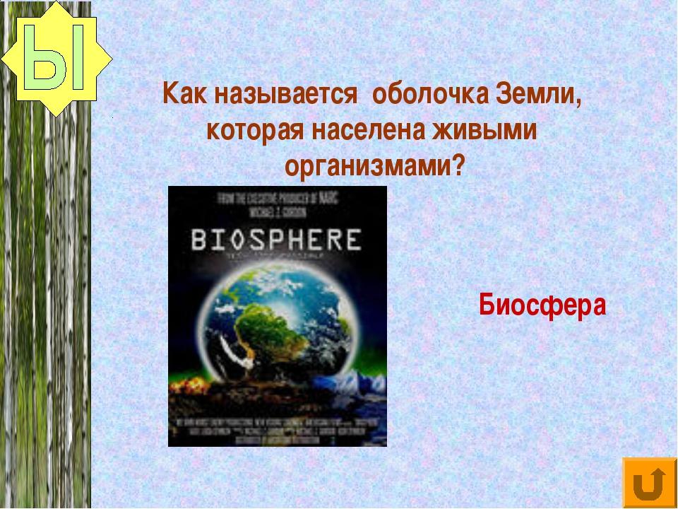 Как называется оболочка Земли, которая населена живыми организмами? Биосфера
