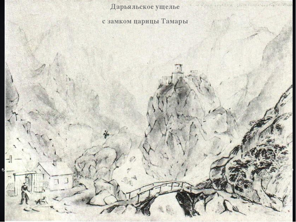 Дарьяльское ущелье с замком царицы Тамары