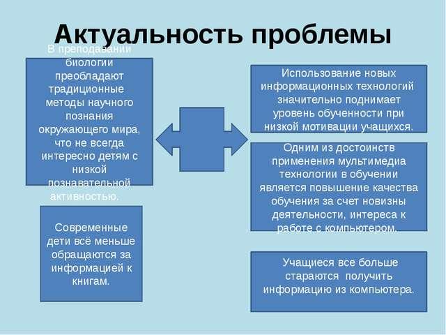 Актуальность проблемы Использование новых информационных технологий значитель...