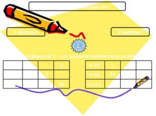 Математический диктант 1 вариант 2 вариант 2. Используя формулу S = ab, найди