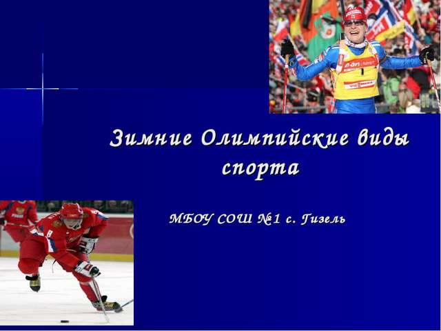 Зимние Олимпийские виды спорта МБОУ СОШ № 1 с. Гизель