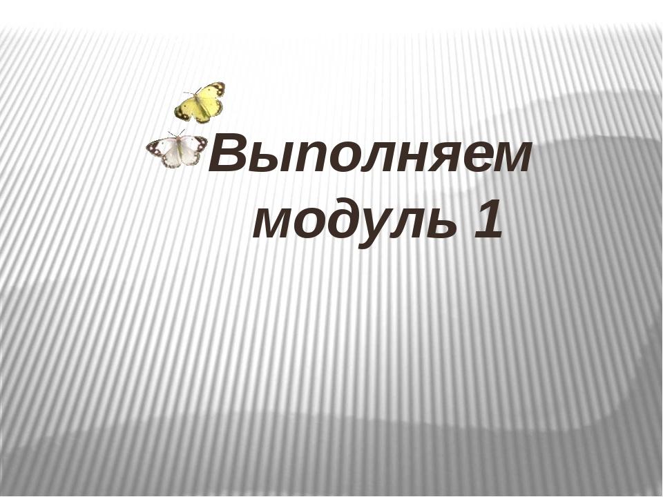 Выполняем модуль 1