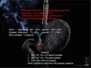 Все ядовитые вещества влияют наорганизм человека. Курильщики страдают отраз