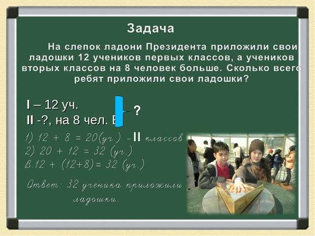 II -?, на 8 чел. Б. I – 12 уч.