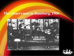 The Quarrymen in Hamburg, 1960
