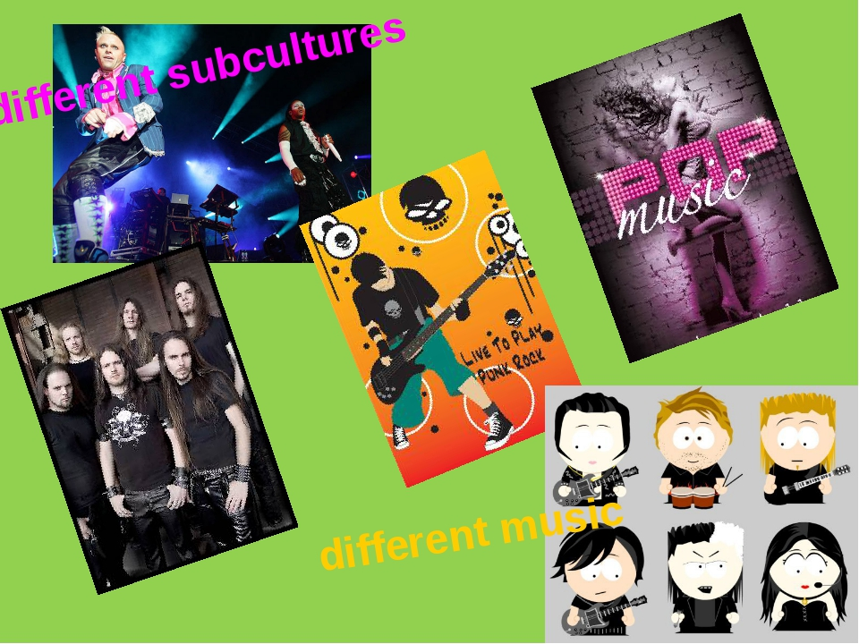 different subcultures different music