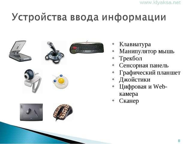 Клавиатура Манипулятор мышь Трекбол Сенсорная панель Графический планшет Джо...
