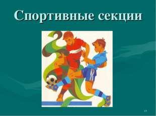 Спортивные секции *
