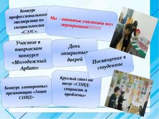 Конкурс профессионального мастерства по специальности «СЭЗС». Участие в твор