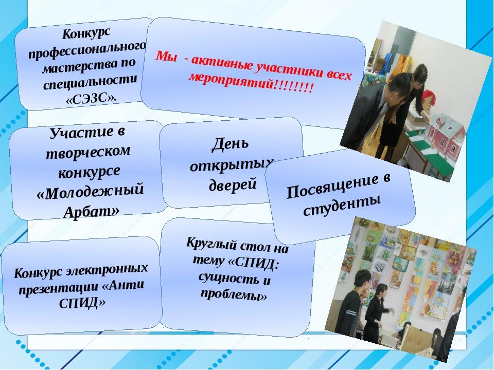 Конкурс профессионального мастерства по специальности «СЭЗС». Участие в твор...