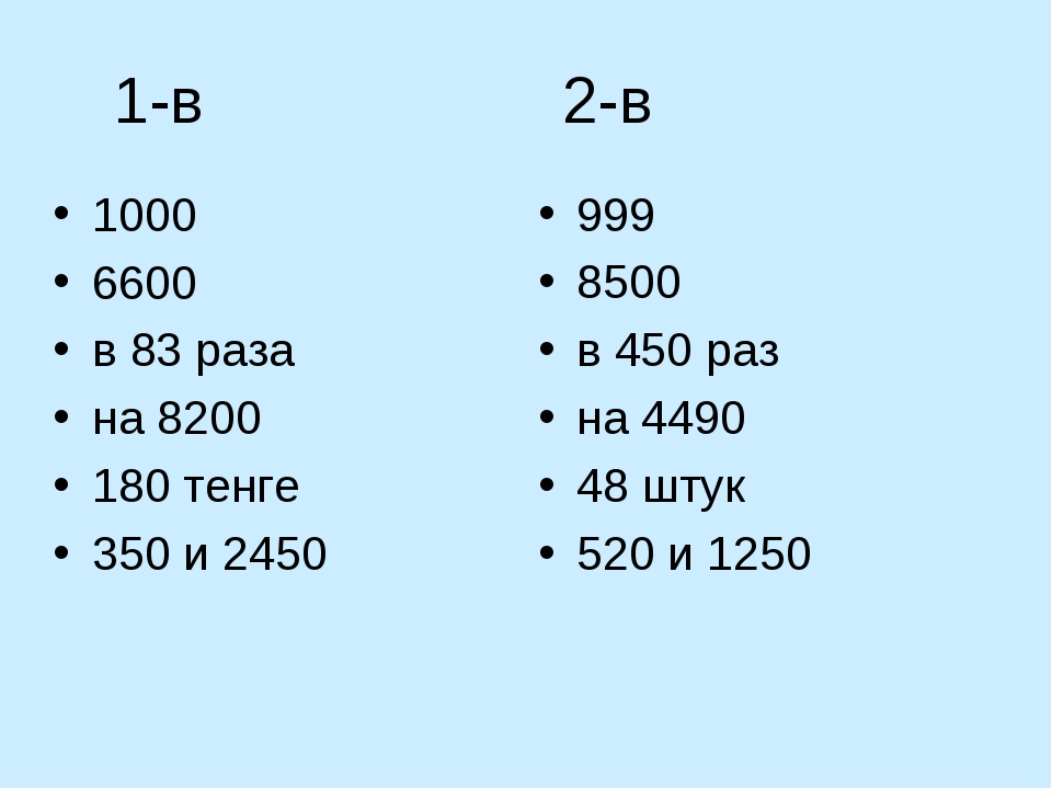 1-в 2-в 1000 6600 в 83 раза на 8200 180 тенге 350 и 2450 999 8500 в 450 раз н...