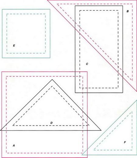 Блоки и схемы пэчворка. Изготовление шаблонов