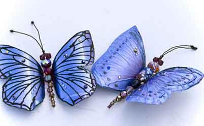 Поделки для сада: бабочки из пластиковых бутылок
