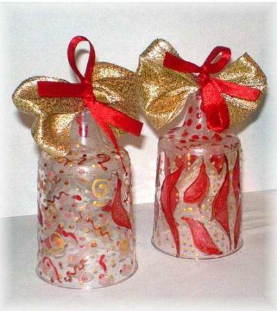 колокольчики из пластиковых бутылок