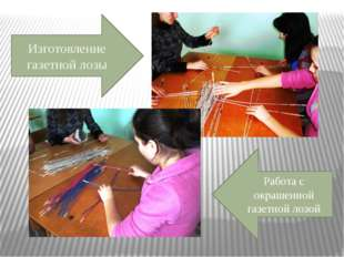 Изготовление газетной лозы Работа с окрашенной газетной лозой