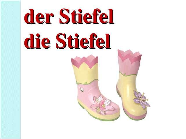 der Stiefel die Stiefel