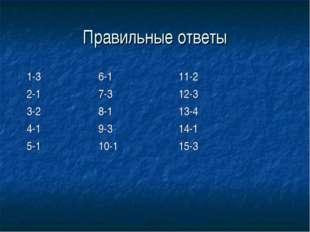 Правильные ответы 1-3 6-1 11-2 2-1 7-3 12-3 3-2 8-1 13-4 4-1 9-3 14-1 5-1 10-