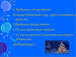 4. Продумали, где приобрести Большую Новогоднюю елку, куда её поставить, и ч