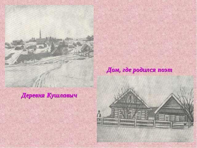 Деревня Кушлавыч Дом, где родился поэт