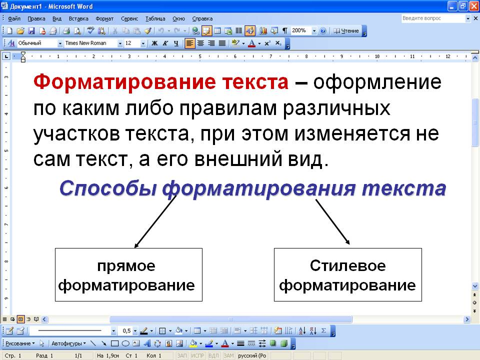 Научиться форматировать текстовые документы