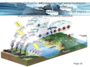 Кислотный дождь образуется в результате реакции между водой и такими загрязня