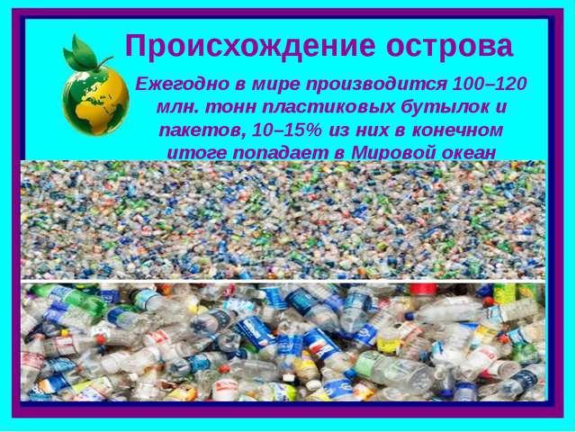Происхождение острова Ежегодно в мире производится 100–120 млн. тонн пластико...