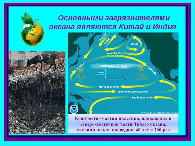 Основными загрязнителями океана являются Китай и Индия Количество частиц плас...