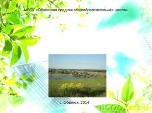 Проект «Семь чудес моего села» МБОУ «Обвинская средняя общеобразовательная шк
