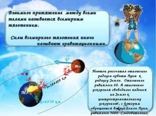 mл Мз F3 Fл R V r=384400 км R=6370 км m g Ньютон рассчитал отношение радиуса