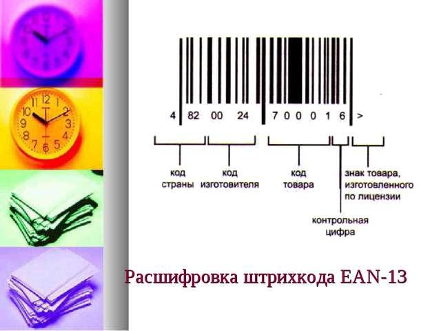 Расшифровка штрихкода ЕАN-13