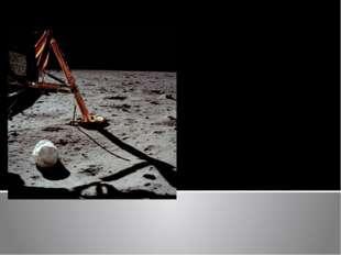 Первая фотография, сделанная Нилом Армстронгом после выхода на поверхность Лу