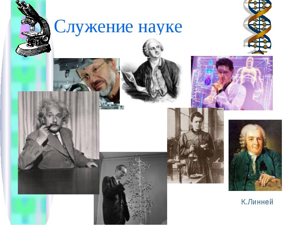 Служение науке К.Линней