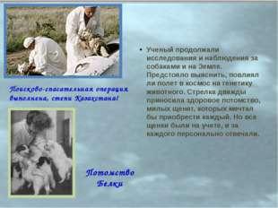 Ученый продолжали исследования и наблюдения за собаками и на Земле. Предстоял