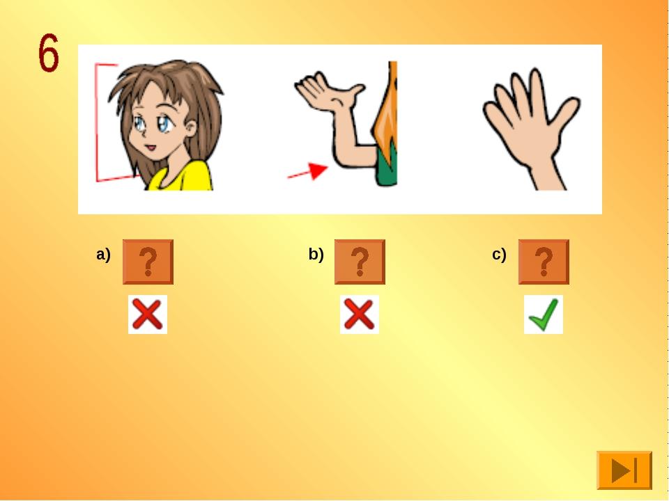 a) b) c)