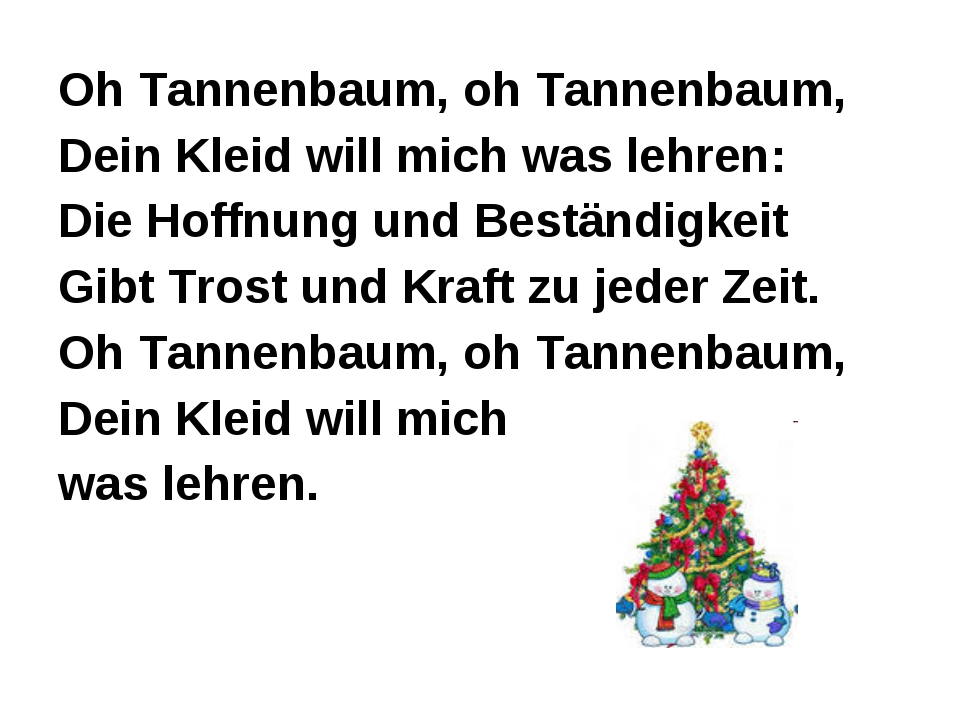 Oh Tannenbaum, oh Tannenbaum, Dein Kleid will mich was lehren: Die Hoffnung u...
