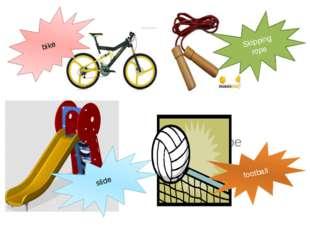 Bike skipping rope bike slide Skipping rope football