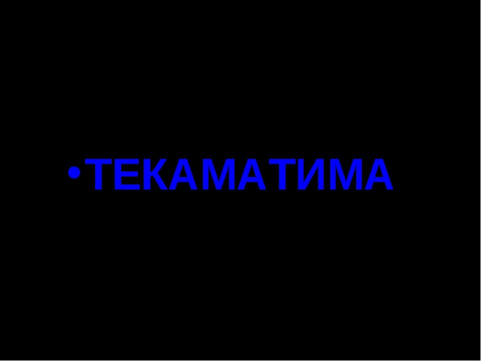ТЕКАМАТИМА
