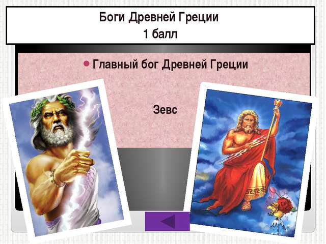 Боги Древней Греции 5 баллов Бог, подаривший людям огонь Прометей