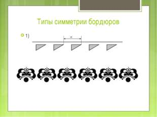 Типы симметрии бордюров 1)