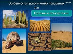 Особенности расположения природных зон Пустыни и полупустыни Слайд 18