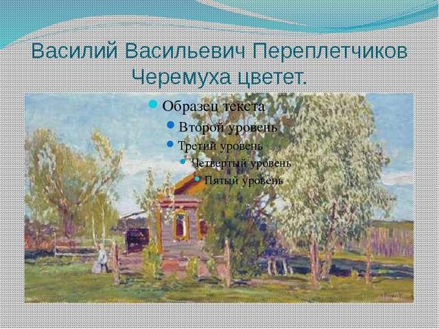 Василий Васильевич Переплетчиков Черемуха цветет.