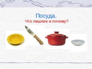 Посуда. Что лишнее и почему?