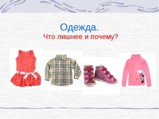 Одежда. Что лишнее и почему?