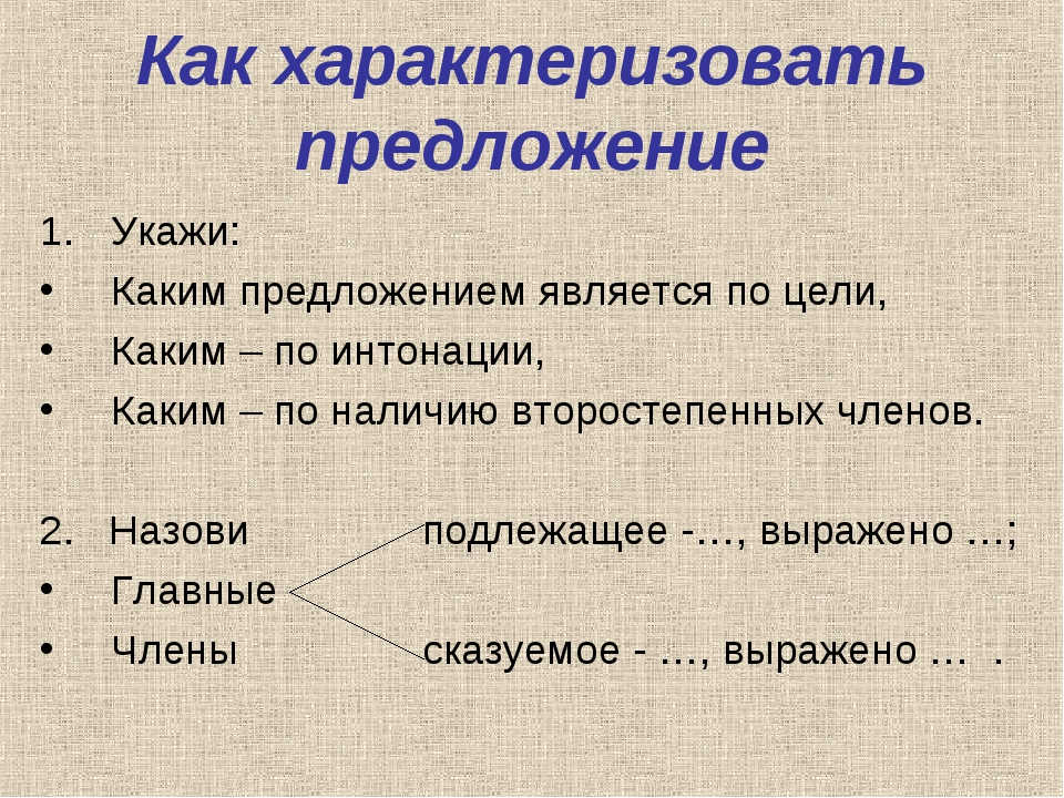 Как характеризовать предложение Укажи: Каким предложением является по цели, К...