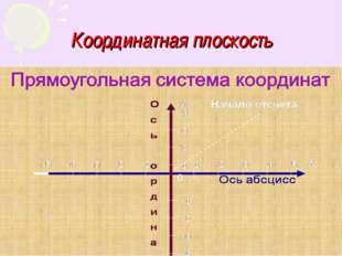 Координатная плоскость