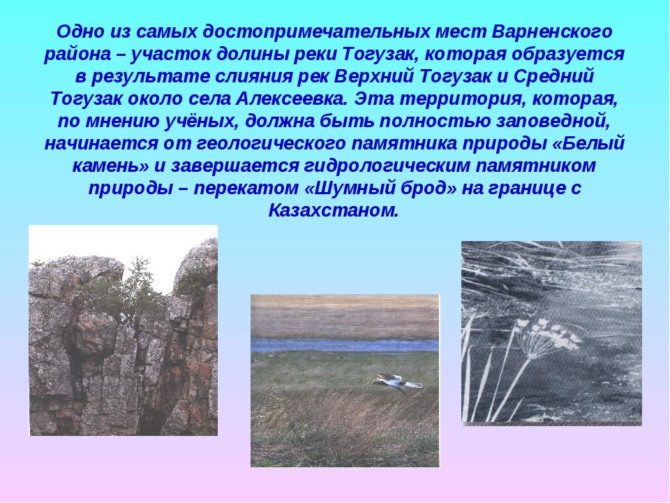 Одно из самых достопримечательных мест Варненского района – участок долины ре...