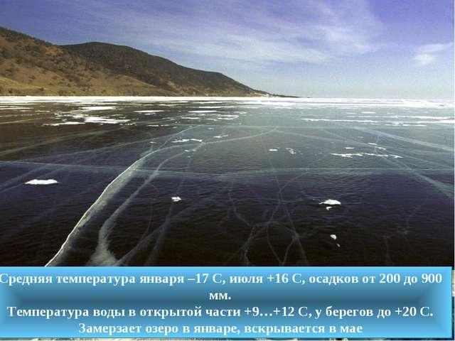 Средняя температура января –17 С, июля +16 С, осадков от 200 до 900 мм. Темпе...